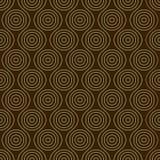 Modèle sans couture avec des cercles Photos libres de droits