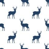 Modèle sans couture avec des cerfs communs sur le fond blanc Image stock