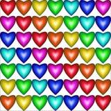 Modèle sans couture avec des coeurs dans des couleurs d'arc-en-ciel Photos stock