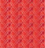 Modèle sans couture avec des coeurs de rouge de gradient Fond décoratif rouge romantique Photo libre de droits