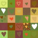 Modèle sans couture avec des coeurs, illustration de vecteur Photos libres de droits