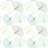 Modèle sans couture avec des feuilles de biloba de Ginkgo Images stock