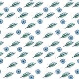Modèle sans couture avec des feuilles sur le fond blanc illustration libre de droits