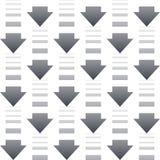 Modèle sans couture avec des flèches sur un fond blanc Photographie stock