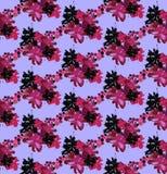 Modèle sans couture avec des fleur-taches Illustration Stock