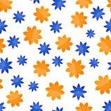 Modèle sans couture avec des fleurs dans le style plat illustration stock