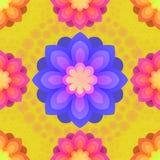 Modèle sans couture avec des fleurs de mandalas Éléments décoratifs de cru L'Islam, l'arabe, Indien, motifs de tabouret Perfectio illustration de vecteur