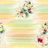 Modèle sans couture avec des fleurs de ressort Image libre de droits