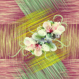 Modèle sans couture avec des fleurs de ressort Photos libres de droits