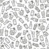 Modèle sans couture avec des icônes de boisson illustration de vecteur