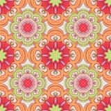 Modèle sans couture avec des mandalas dans de belles couleurs pour votre conception Fond de vecteur Photo libre de droits