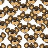 Modèle sans couture avec des marmottes illustration libre de droits