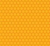 Modèle sans couture avec des nids d'abeilles Images stock