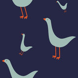 Modèle sans couture avec des oies Images stock