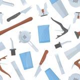 Modèle sans couture avec des outils du barman s sur le fond blanc Contexte avec l'équipement de barre pour servir alcoolique ou d illustration de vecteur