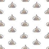 Modèle sans couture avec des paires d'étreindre les lémurs adorables avec les yeux fermés sur le fond blanc Contexte avec la band illustration de vecteur