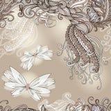 Modèle sans couture avec des papillons pour épouser illustration de vecteur