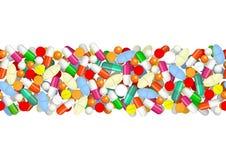 Modèle sans couture avec des pilules Images libres de droits