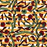 Modèle sans couture avec des poivrons illustration stock