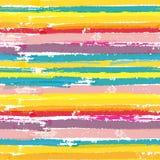 Modèle sans couture avec des rayures de couleur de peinture Images libres de droits