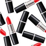 Modèle sans couture avec des rouges à lèvres Photographie stock libre de droits