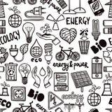 Modèle sans couture avec des symboles d'énergie illustration de vecteur