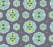 Modèle sans couture avec des symboles géométriques tribals illustration stock