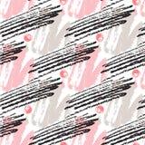 Modèle sans couture avec des textures grunges Fond tiré par la main de hippie de mode Vecteur pour la copie, tissu, textile, cart Images stock