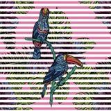 Modèle sans couture avec des toucans illustration libre de droits