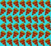 Modèle sans couture avec des tranches de pizza Illustration de vecteur Photographie stock libre de droits