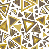 Modèle sans couture avec des triangles Images libres de droits