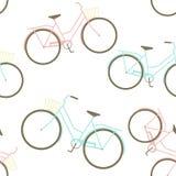 Modèle sans couture avec des vélos Images stock