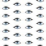 Modèle sans couture avec des yeux bleus Fond de vecteur illustration de vecteur