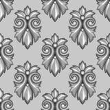 Modèle sans couture avec floral ornemental baroque illustration libre de droits