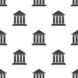 Modèle sans couture avec l'édifice bancaire Photos libres de droits
