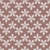 Modèle sans couture avec l'élément de fleur Brown et papier peint abstrait beige Photo stock