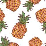 Modèle sans couture avec l'ananas dans le vecteur Image stock