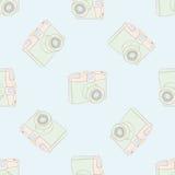 Modèle sans couture avec l'appareil-photo de vintage illustration libre de droits