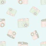 Modèle sans couture avec l'appareil-photo de vintage Photos stock