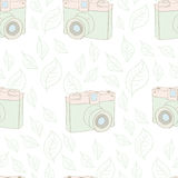 Modèle sans couture avec l'appareil-photo de vintage Image stock