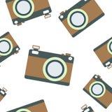 Modèle sans couture avec l'appareil-photo de vintage Photos libres de droits