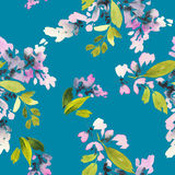 Modèle sans couture avec l'aquarelle de fleurs Photo stock