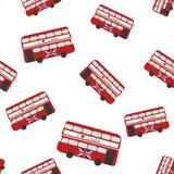 Modèle sans couture avec l'autobus illustration de vecteur