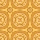 Modèle sans couture avec l'ornement de cercle dans l'orange Photographie stock