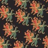 Modèle sans couture avec l'ornement floral 3 Illustration Libre de Droits