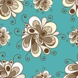 Modèle sans couture avec l'ornement floral 1 Illustration Libre de Droits