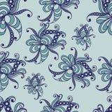 Modèle sans couture avec l'ornement floral 4 Illustration Libre de Droits
