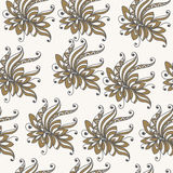 Modèle sans couture avec l'ornement floral 6 Illustration de Vecteur
