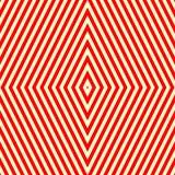 Modèle sans couture avec l'ornement géométrique symétrique Fond abstrait blanc rouge rayé illustration libre de droits