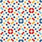 Modèle sans couture avec l'ornement géométrique symétrique Places et fond lumineux de losanges répétés par résumé illustration de vecteur